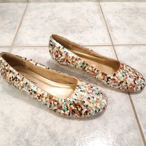 Glam shoes flats multicolor for women size 8